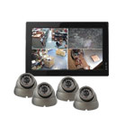 600TVL All In One 4 Dome Camera CCTV System with 500GB