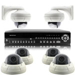 1080P Full HD 6 Camera 15M IR Day Night Vari Focal HD SDI CCTV System