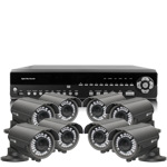 1080P Full HD 8 Camera 30M IR Day Night Vari Focal HD SDI CCTV System