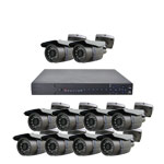 600TVL 10 Bullet Camera 20M IR Day Night CCTV System with Smart Phone Access