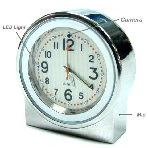 Spy Camera Clock Video Recorder 640x480