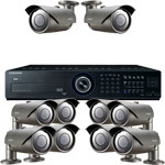 Samsung 600TVL 50M IR Day Night 10 Camera CCTV Security System