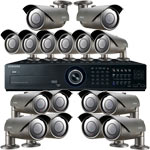 Samsung 600TVL 50M IR Day Night 16 Camera CCTV Security System